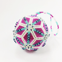 Festive Bauble - Geometric Peyote Beadwork Class, Friday 10th November 2017 10.30am - 4.30pm